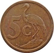 5 Cents (Sepedi/Sesotho Legend - Afrika Borwa) -  reverse