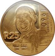 1 Ounce / 25 Rand (Nobel Prize Winners - Albert John Luthuli) – reverse