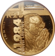 25 Rand / 1 Ounce (Archbishop Desmond Mpilo Tutu) – reverse