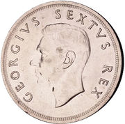 5 Shillings - George VI (Cape Town Anniversary) -  obverse