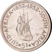 5 Shillings - George VI (Cape Town Anniversary) -  reverse