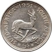 5 Shillings - George VI (5S) – reverse