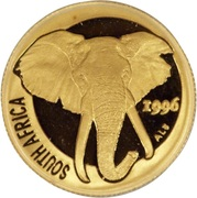 1/10 Ounce (Natura - Elephant) – obverse