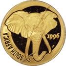 ¼ Ounce (Natura - Elephant) – obverse