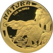 1 Ounce (Natura - Elephant) – reverse