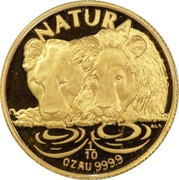 1/10 Ounce (Natura - Lion) – reverse