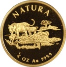 ¼ Ounce (Natura - Lion) – reverse