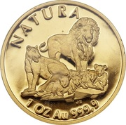 1 Ounce (Natura - Lion) – reverse