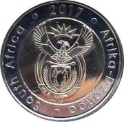 5 Rand (South Africa-Afrika Dzonga) – obverse