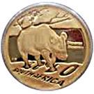 1/10 Ounce / 10 Rand (Natura - Black Rhino) – obverse