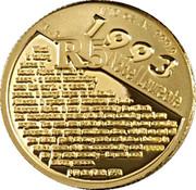 5 Rand / 1/10 Ounce (F.W. de Klerk) – reverse