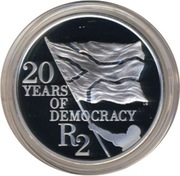 2 Rand (20 Years of Democracy) -  reverse
