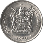 20 Cents (SUID-AFRIKA - SOUTH AFRICA) -  obverse