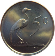 5 Cents (English Legend - SOUTH AFRICA) -  reverse
