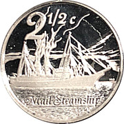 2½ Cents (Scot, Mail Steamship) -  reverse
