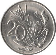 20 Cents (SUID-AFRIKA - SOUTH AFRICA) -  reverse