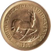 1 Rand Gold (1st & 2nd decimal series) -  reverse