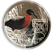 10 Rand (White-backed Night Heron - colourized) – reverse