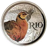 10 Rand (Yellow-Throated Sandgrouse - colourized) – reverse