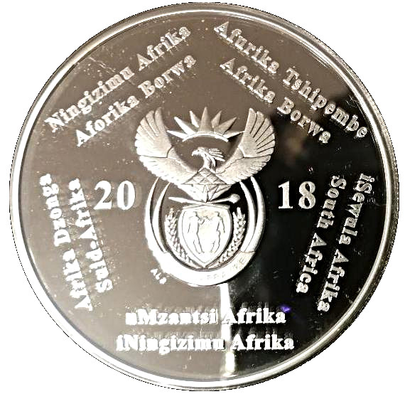 South Africa 2018 Computed Tomography 2 Rand Silver Proof Coin