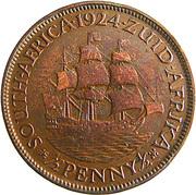 ½ Penny - George V (½ Penny ½) – reverse