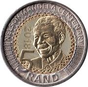 5 Rand (Nelson Mandela Centenary) – reverse