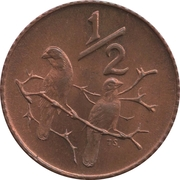 ½ Cent (SOUTH AFRICA - SUID-AFRIKA) -  reverse