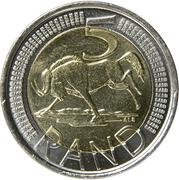5 Rand (Afrika Borwa - Suid-Afrika) – reverse