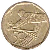 50 Cents (Cricket; Tswana Legend - Aforika Borwa) -  reverse