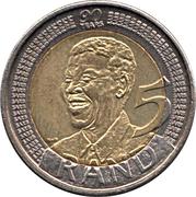 5 Rand (Nelson Mandela 90th Birthday) – reverse