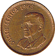 1 Cent (Charles Swart; English Legend - SOUTH AFRICA) -  obverse