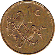 1 Cent (Charles Swart; English Legend - SOUTH AFRICA) -  reverse