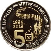 5 Rand (25 Years of Constitutional Democracy) – reverse