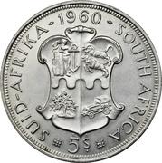 5 Shillings - Elizabeth II (South African Union) – reverse
