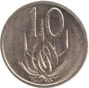 10 Cents (Nicolaas J. Diederichs) -  reverse