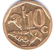 10 Cents (Sepedi/Sesotho Legend - Afrika Borwa) -  reverse