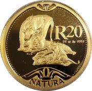 20 Rand - 1/4 Ounce (Natura - Lion) – reverse