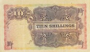 10 Shillings (English or Dutch) -  reverse