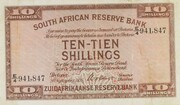 10 Shillings (English - Dutch) – obverse