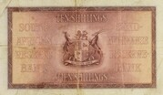 10 Shillings (English - Afrikaans) – reverse
