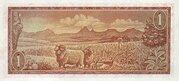 1 Rand (Afrikaans - English) – reverse