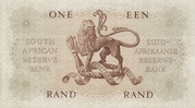 1 Rand (Afrikaans - English) – reverse