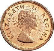 ¼ Penny - Elizabeth II (1st portrait) -  obverse