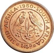 ¼ Penny - Elizabeth II (1st portrait) -  reverse