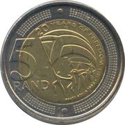 5 Rand (20 Years Freedom) – reverse