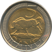 5 Rand (Afrika Dzonga - Ningizimu Afrika) – reverse
