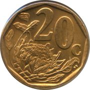 20 Cents (Sepedi/Sesotho Legend - Afrika Borwa) -  reverse