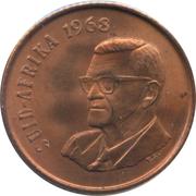 2 Cents (Afrikaans Legend - SUID-AFRIKA) -  obverse