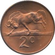 2 Cents (Afrikaans Legend - SUID-AFRIKA) -  reverse