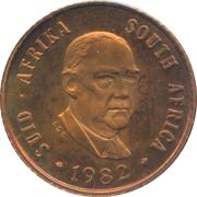 1 Cent (Balthazar J. Vorster) – obverse